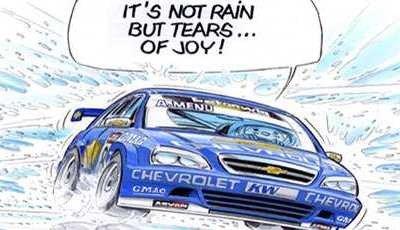 Chevrolet Lacetti WTCC en cómic