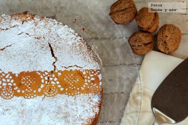 Bizcocho de naranja y nueces. Receta para desayunar en San Valentín