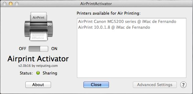AirprintActivator permite la impresión desde iOS