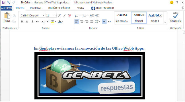 Microsoft adapta las Office Web Apps a Office 2013 y añade nuevas funcionalidades