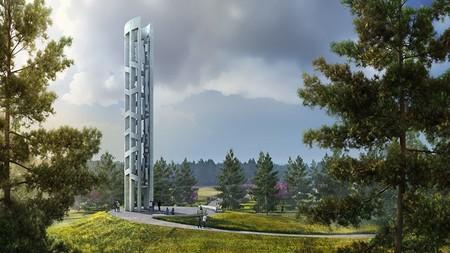 'La Torre de las Voces', un instrumento musical de 28 metros de altura con 40 campanas como homenaje a las víctimas del 9/11