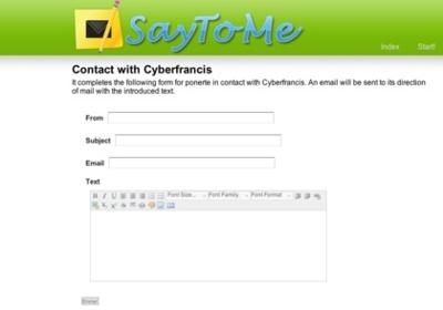 SayToMe, crea sencillos formularios de contacto
