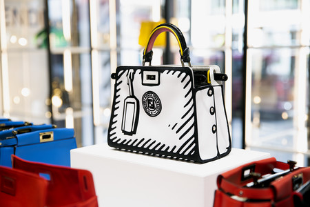 Fendi Cafe Caffe Peekaboo Bar Custom Bag London Harrods 5