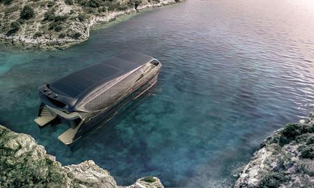 Este concepto de yate está ideado para que se alimente únicamente de energía solar con 300 metros cuadrados de placas solares