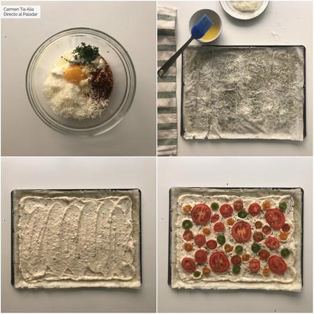 Paso A Paso Tarta Salada De Ricotta Y Tomate