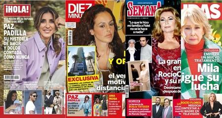 El nuevo tratamiento de Mila Ximénez, el apartamento en Miami de Rocío Jurado y el hermano secreto de Borja Thyssen: Estas son las portadas de la semana del 7 de abril