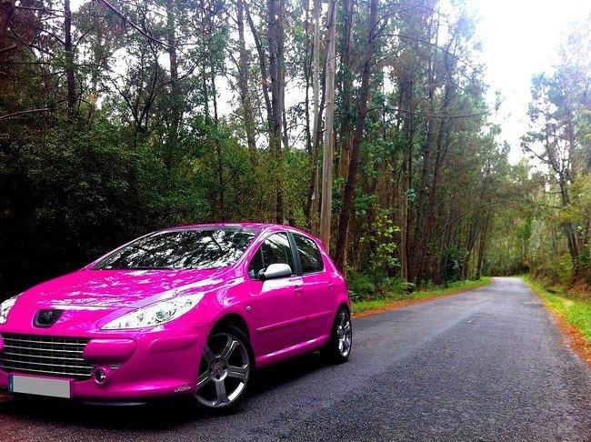Peugeot 307 rosa