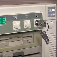 Cuando tener un candado con llave en el PC era lo más de lo más en seguridad
