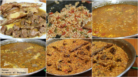arroz ragu paso a paso