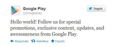 Google Play en Twitter