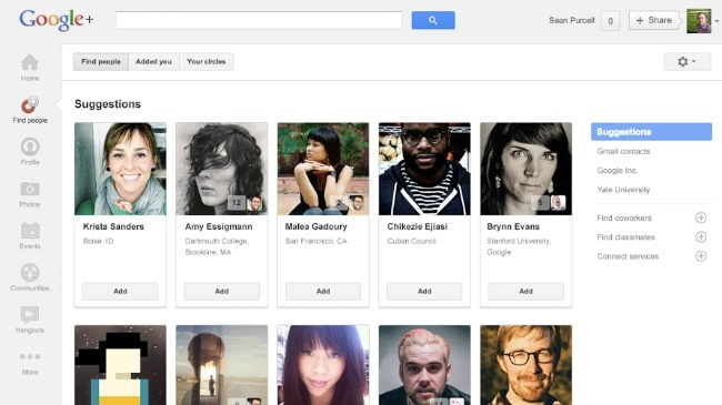 google plus buscar amigos