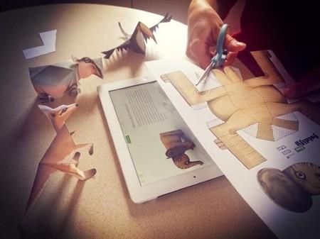 Con Foldify Zoo para el iPad se pueden crear animales en la tableta e imprimirlos y plegarlos en papel