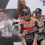 La lluvia arregla la temporada de Honda en MotoGP