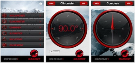 Mammut lanza su propia aplicación de seguridad en la montaña para el iPhone