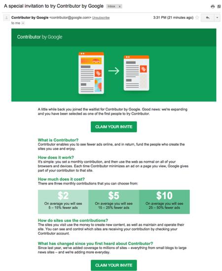 Google Contributor - precios