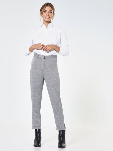 Pantalón elástico punto roma