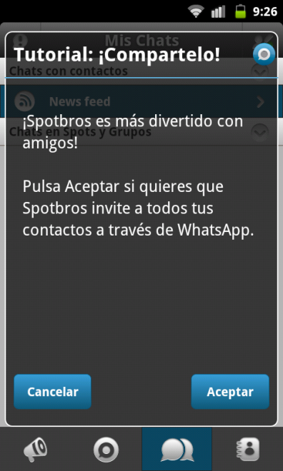 Spotbros Invitar WhatsApp