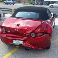 Le destrozan su Mazda MX-5 pocos minutos después de estrenarlo y Mazda le regala uno nuevo