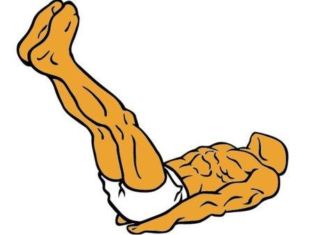 Cuidado con la elevación de piernas rectas al trabajar abdominales