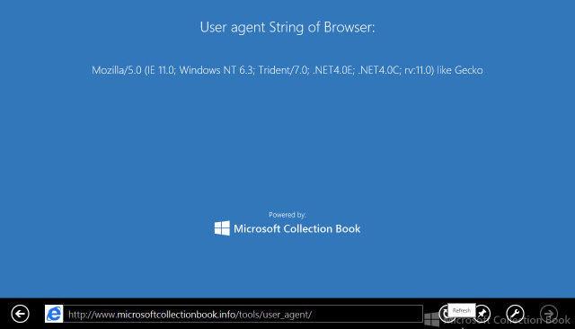 Cadena de agente de usuario de Internet Explorer 11
