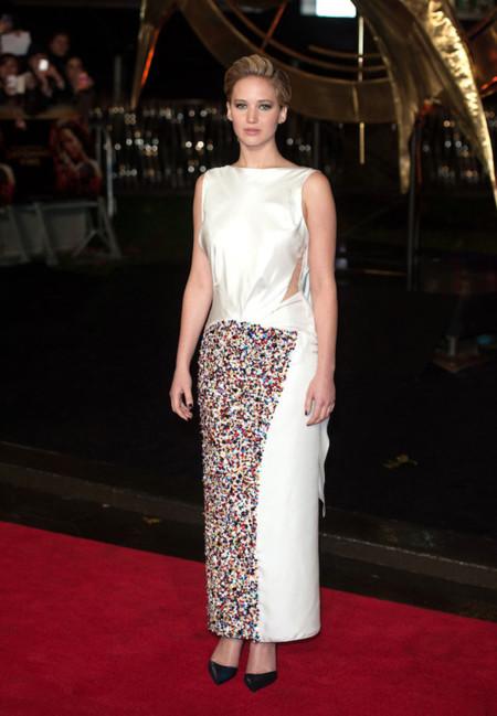 Jennifer Lawrence lentejuelas Dior