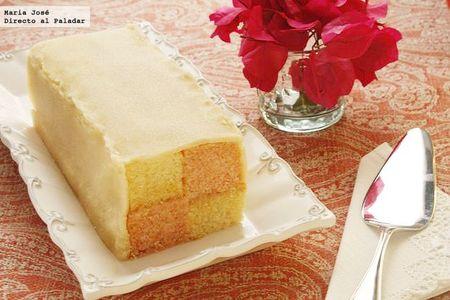 Battenberg cake. Receta