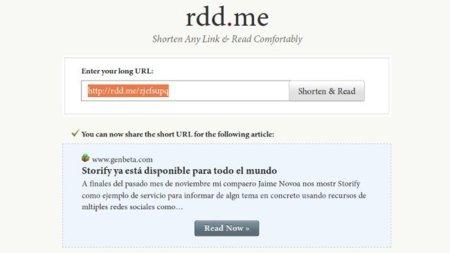 Rdd.me: comparte enlaces preparados para lectura en pantalla