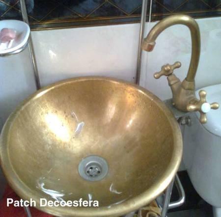 C mo limpiar un lavabo de lat n decoesfera responde - Limpieza de cobre ...