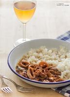 Calamares en salsa con vino de Jerez. Receta