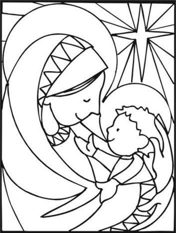 Imprime y colorea dibujos de Navidad