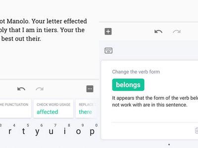 Escribe en perfecto inglés con la ayuda del teclado de Grammarly