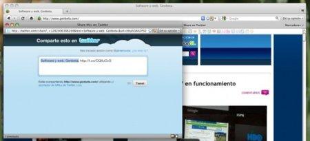 Twitter lanza su bookmarklet, compartir cualquier enlace es un poco más fácil