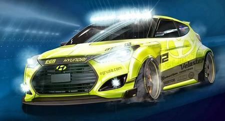 El Veloster Yellowcake que Hyundai llevará a SEMA