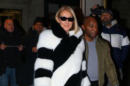 Los días fríos (casi helados) se hacen más soportables con un abrigo como el de Céline Dion (de casi 10.000 euros)