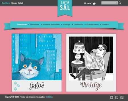 Lata de sal es una editorial de libros para niños especializada en dos preciosas colecciones: gatos y vintage