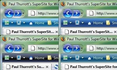 Tonalidades de Azul en la barra de herramientas de Firefox