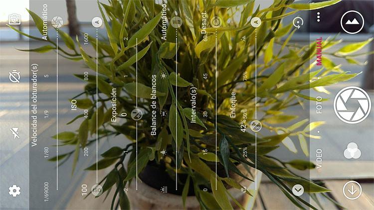 ZTE Axon 7, app de cámara