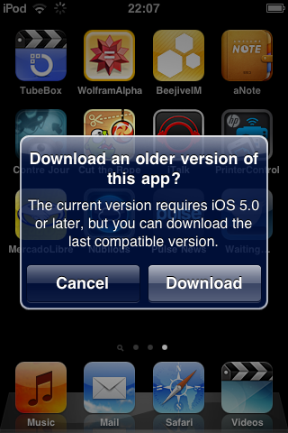 Apple permitirá descargar la última versión compatible de las aplicaciones para cada iOS