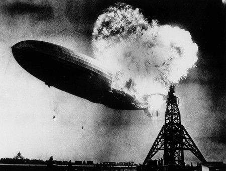 Hindenburg Burning 1937