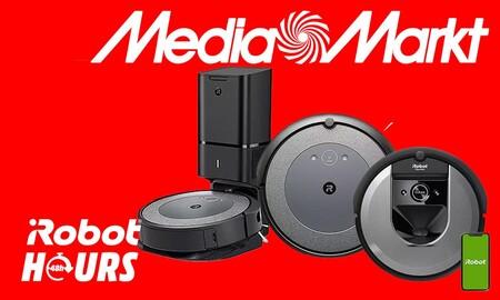 Robot Hours en MediaMarkt: los robots aspiradores Roomba más baratos sólo te esperan hasta mañana