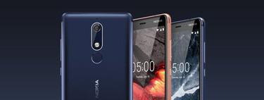 Nokia 5.1, Nokia 3.1 y Nokia 2.1: tres nuevos gama media con pantalla 18:9, NFC y Android puro