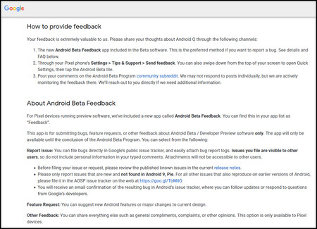 Android Beta Feedback
