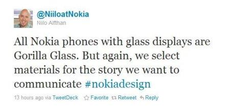 Nokia ha apostado por Gorilla Glass para las pantallas de sus Smartphones