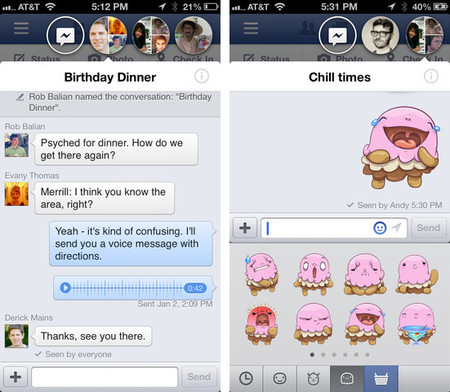 "Facebook para iOS recibe su ración de ""Chat Heads"""