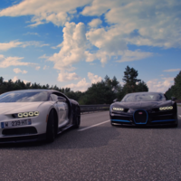 ¿Cómo se grabó el 0 - 400 - 0 del Bugatti Chiron? Facil, con otro Chiron