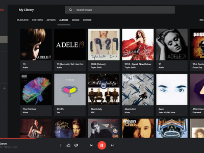 Este elegante y personalizable reproductor de Google Play Music funciona en Windows, Linux y Mac