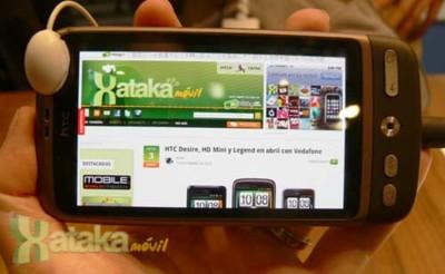 HTC Desire, HTC HD Mini y HTC Legend, los hemos probado