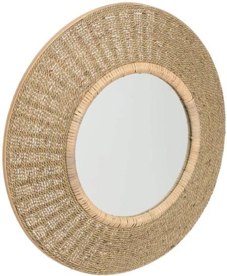 Espejo de fibra natural