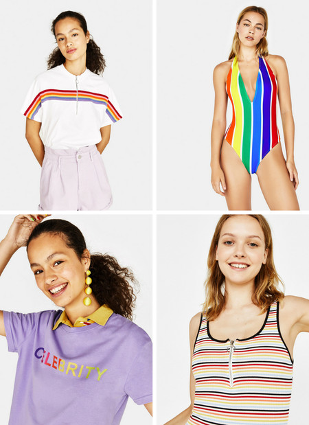 bershka arcoiris multicolor lowcost