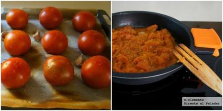 Salsa de tomates asados y ajo